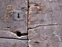 Braunes Eisenschlüsselloch der Weinlese lizenzfreie stockbilder