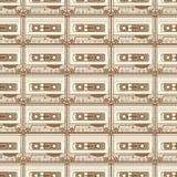 Braunes Muster der Kassette auf hellem Hintergrund Stockfotografie