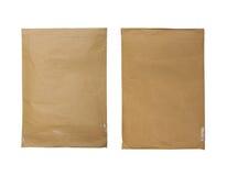 braunes Umschlagdokument getrennt auf Weiß lizenzfreie stockfotos