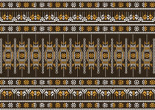 Braunes und orange Muster des Silk Stoffes Lizenzfreies Stockfoto