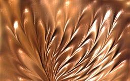 Braunfarbige Wellenblumenzusammenfassungshintergrundtapeten-Vektorillustration lizenzfreies stockbild