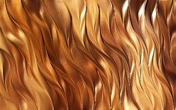 Braunfarbige Wellenzusammenfassungshintergrundtapeten-Vektorillustration lizenzfreies stockfoto