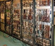 Braunschweig, Niski Saxona, Niemcy, Sierpień 8 , 2018: Depeszować w kontrolnym centre cząsteczka akcelerator przy PTB fotografia royalty free
