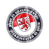 Braunschweig rubber stamp. Braunschweig city  grunge rubber stamp Stock Photos