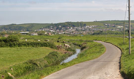Braunton北德文区村庄  免版税库存照片