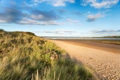 Braunton in Devon. The beach at Braunton Burrows near Barnstaple on the Devon coast royalty free stock photos