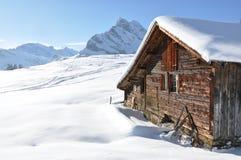 braunwald瑞士 库存照片