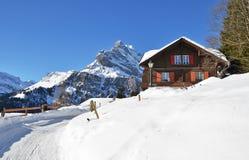 Braunwald,瑞士 免版税库存照片