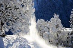 Braunwald в горах рождества снега Швейцарии Стоковые Изображения