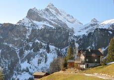 Braunwald, beroemde Zwitserse het ski?en toevlucht stock afbeelding