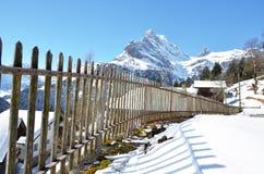 Braunwald, beroemde Zwitserse het ski?en toevlucht Royalty-vrije Stock Afbeeldingen