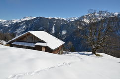 Braunwald, beroemde Zwitserse het ski?en toevlucht Royalty-vrije Stock Fotografie