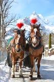 Braunwald, beroemde Zwitserse het ski?en toevlucht Stock Fotografie