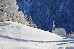 Braunwald in de Bergen van de Sneeuwkerstmis van Zwitserland Royalty-vrije Stock Foto's