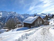 Braunwald, famous Swiss skiing resort Stock Image