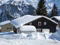 Braunwald, recurso de esqui suíço famoso Imagens de Stock