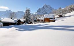 Braunwald, Zwitserland Stock Foto