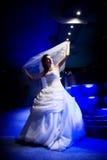 Braut angesichts der Nacht stockbilder
