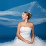 Braut auf Blau Stockfotografie