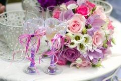 Braut auf einem Schwingen Lizenzfreies Stockfoto