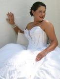 Braut auf ihrem Hochzeitstag Lizenzfreie Stockfotos