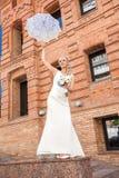 Braut auf Natur Stockfoto