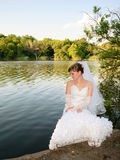 Braut in dem See Stockfoto