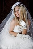 Braut in der Dunkelheit Stockbild