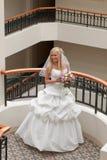 Braut in der Galerie Stockbild