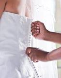 Braut, die bereite Nahaufnahme erhält stockfotografie