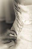 Braut, die für die Hochzeit sich vorbereitet Stockfoto