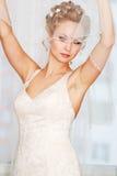 Braut, die fertig wird Lizenzfreies Stockfoto