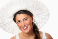 Braut in einem Hut Lizenzfreie Stockfotos