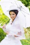 Braut in einem Hut Lizenzfreie Stockbilder