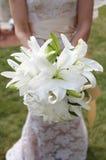 Braut-Holding-Blumenstrauß Lizenzfreie Stockfotos