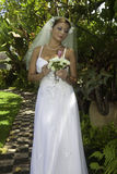 Braut an ihrem Hochzeitstag Lizenzfreie Stockbilder