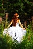Braut im Freien Stockfotografie