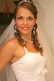 Braut im Hochzeitskleid Stockfoto