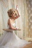 Braut im weißen Hochzeits-Kleid Lizenzfreies Stockfoto