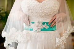 Braut im weißen Kleid Lizenzfreies Stockbild