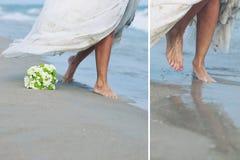 Braut in Meer stockbild