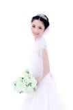 Braut mit Blumen Stockfotos