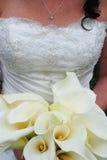 Braut mit Blumenstrauß Lizenzfreies Stockfoto