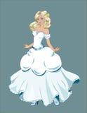 Braut mit dem Goldhaar Stockfotos