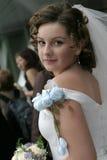 Braut mit einem Blumenstrauß Lizenzfreies Stockfoto