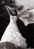 Braut mit einem Schleier Stockfoto