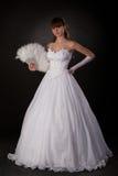 Braut mit Gebläse lizenzfreies stockbild