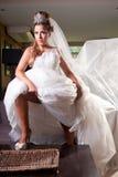 Braut mit großem Schleier Lizenzfreies Stockbild