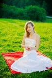 Braut mit Innerem Stockfoto