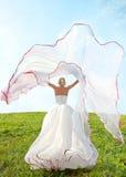 Braut mit langem Schleier Lizenzfreie Stockbilder